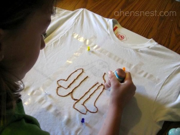 designing a t-shirt with kids