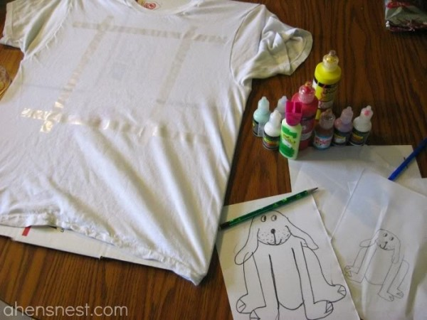 puffy paint shirt tutorial for kids