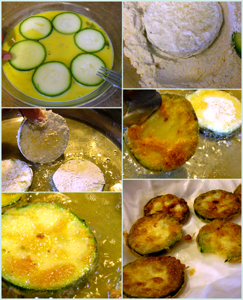 how to bread zuchinni for frying