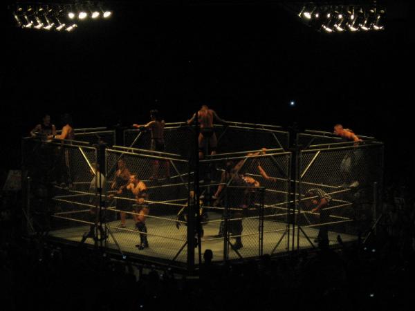 orton cena wwe cage match