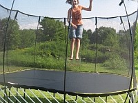 {almost} Wordless Wednesday: The Springfree Trampoline = FUN!