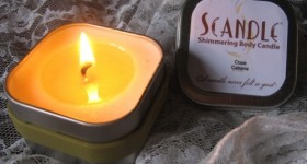 Scandle Shimmering Lotion body oil Candle