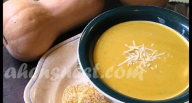 Butternut Squash Soup with Parmesan Toasts