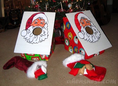 Santa beanbag toss