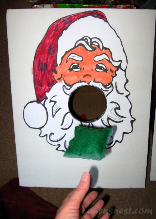 Santa beanbag toss game