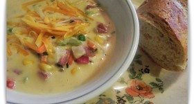 Quick Creamy Ham and Veggie Soup Recipe