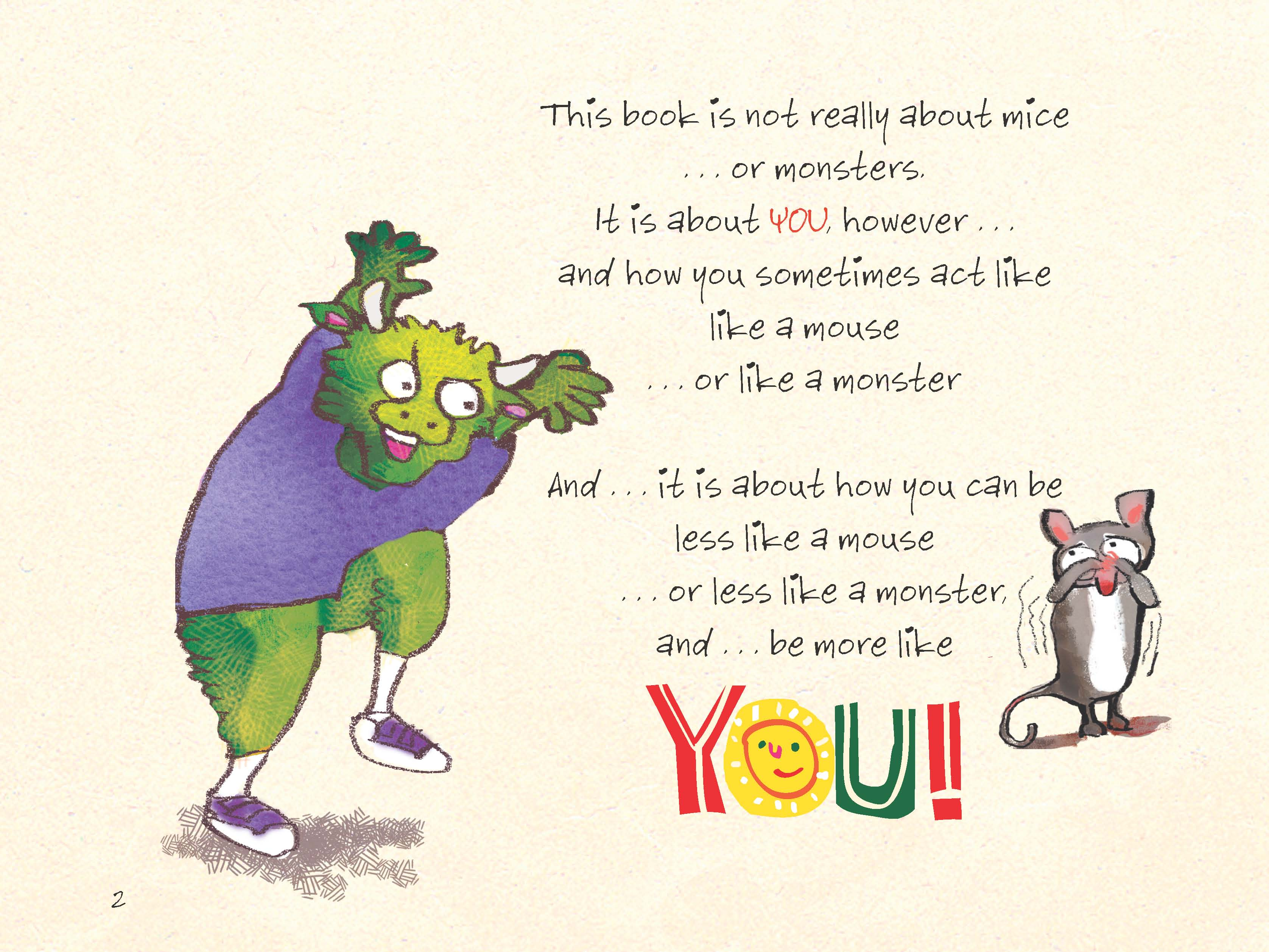 The mouse the monster and me book page