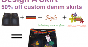50% off custom denim skirts Gaggle of Chicks deal