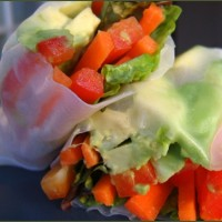 Simple Lunchbox Salad Rolls