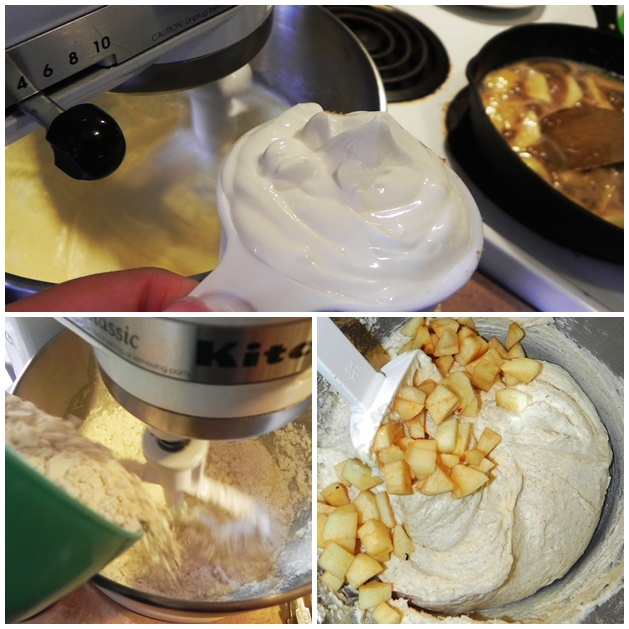 apple cake mixing