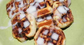 How to make Cinnamon Rolls in a Waffle Iron