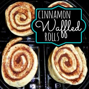 waffled cinnamon rolls @ahensnest