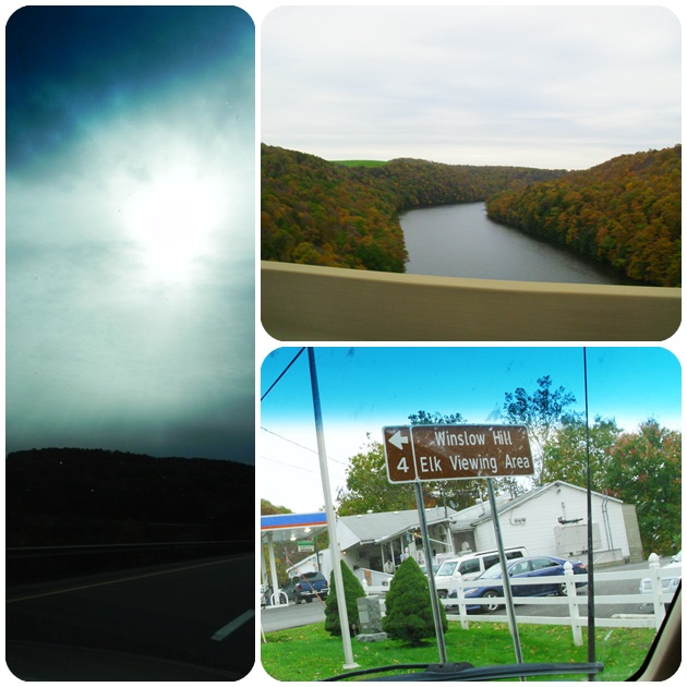 driving to Benezette, PA