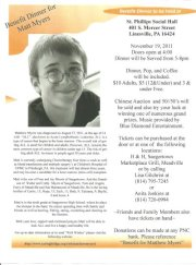 Benefit Dinner for teen with Acute Lymphoblastic Leukemia