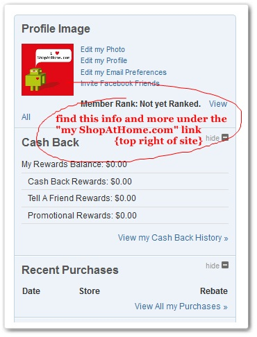 ShopAtHome.com Account