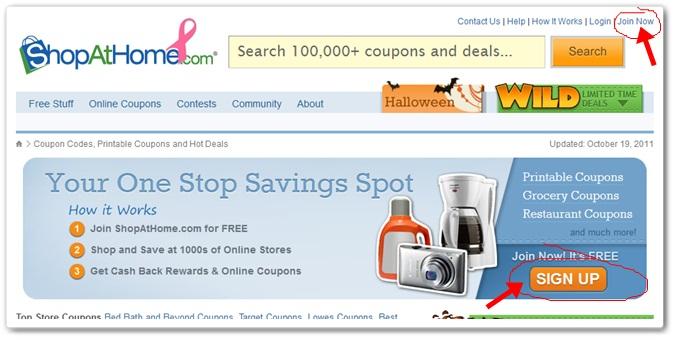register at ShopAtHome.com