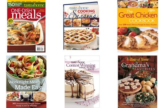 taste of home $5.00 book sale