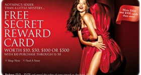 Hot Victoria's Secret sales! Get a secret reward card worth $10 – $500 + 2% cash back!