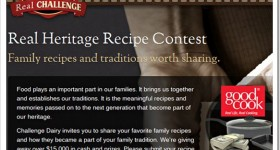 The Challenge Dairy Real Heritage Recipe Contest offers a $2500 cash prize and more!