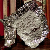 Dove candy wrapper quote