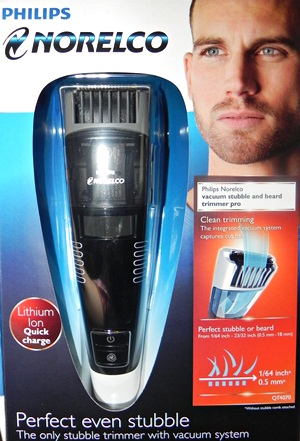 vacuum stubble  and beard trimmer pro