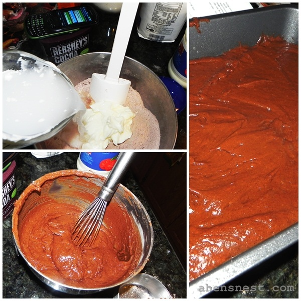 mayo cake recipe mixing