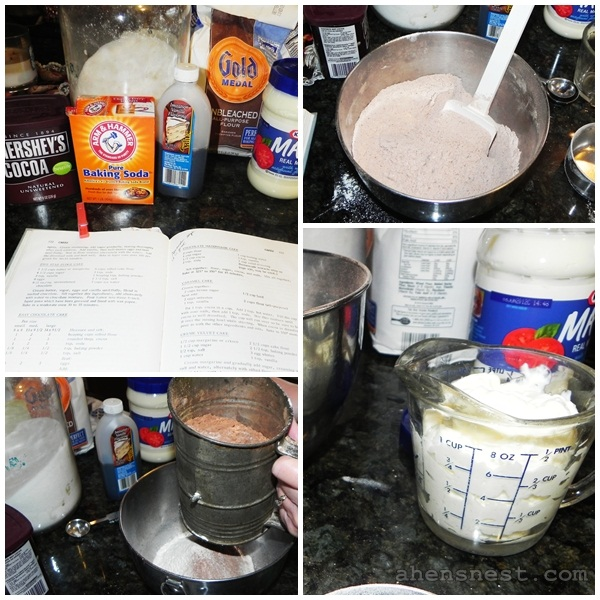 mayo cake recipe steps