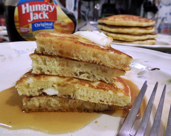 Extra fluffy pancakes with white chocolate chips recipe a hens pancake stack ccuart Images