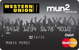 Western Union mun2 prepaid card