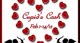 Lots of chances to Win $300 USD cash via PayPal in the big Cupid's Cash #Giveaway!