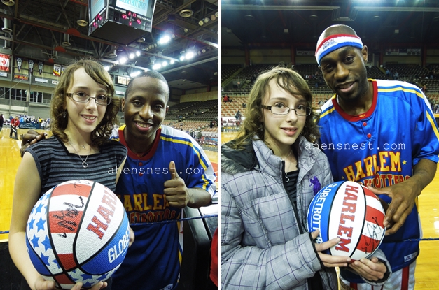 Too Tall and Firefly of the Harlem Globetrotters Tullio Arena 2012