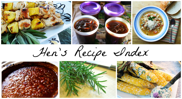 recipe index ahensnest.com