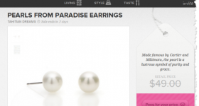 Sneakpeeq.com is celebrating NEW members with FREE Pearl Earrings ($49 value) + Free shipping and daily deals!