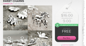 Sneakpeeq.com is celebrating NEW members with a 2 FREE CHARMS + Free shipping and daily deals!