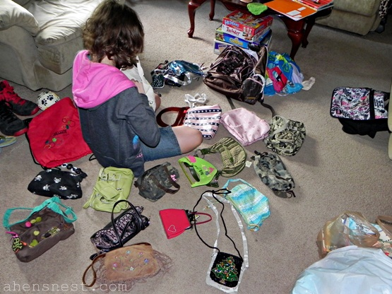 sorting purse collection