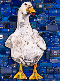 Glad art auction mosaic duck