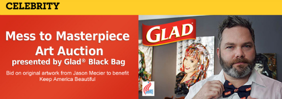 Glad black bag art auction