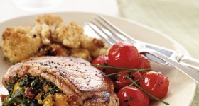 Eating Light – a healthier Stuffed Pork Chop #recipe