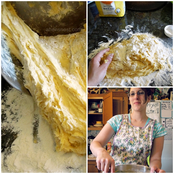 wear an apron when you make bread dough