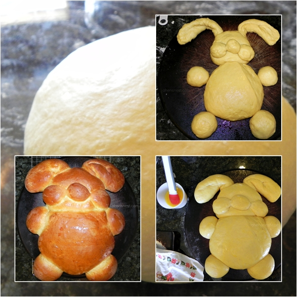 shape bunny bread