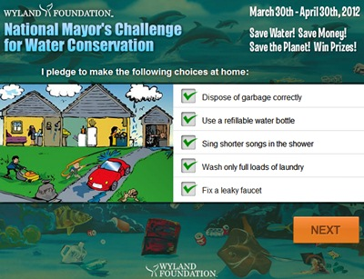 Waterpik Mayor's Challenge pledge
