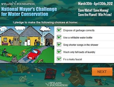 Waterpik Mayor's Challenge pledge