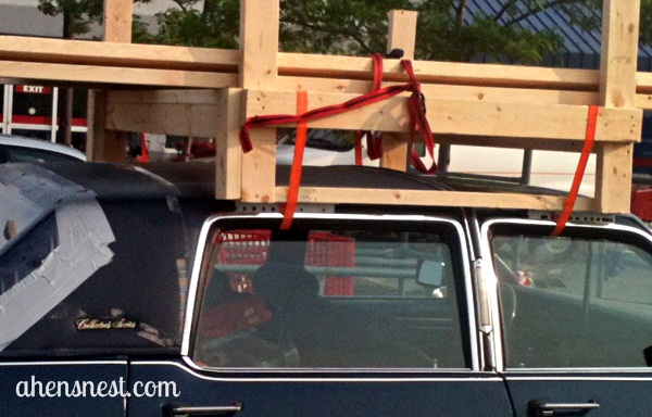 wooden ladder rack