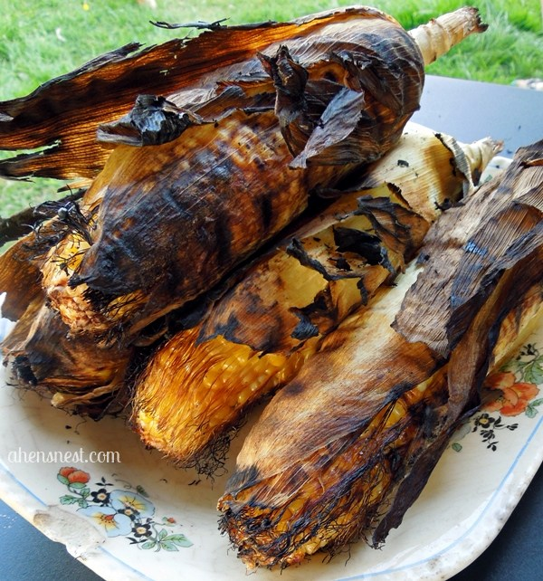 char grilled sweet corn