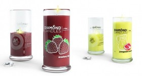 Diamond Candles, the candle with a RING hidden in every glass!
