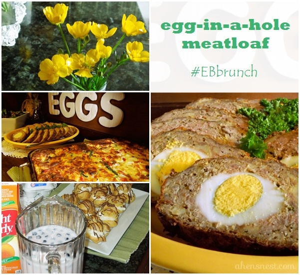 egg in a hole meatloaf using Eggland's Best