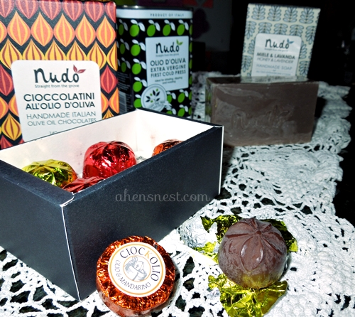 Nudo olive oil chocolates