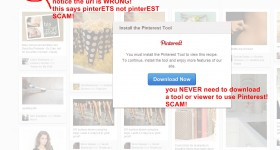 Do not fall for this Pinterest Scam!
