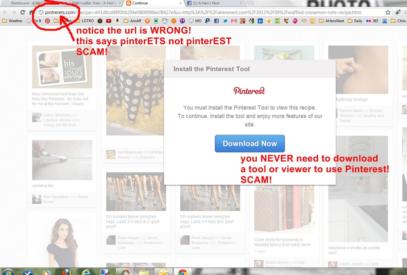 pinterest scam