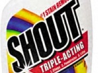 Beat stains with Shout® Trigger Triple-Acting Formula!